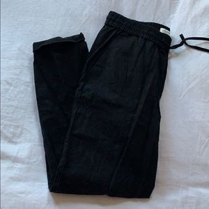J. Crew Black Linen Pants Ankle Length